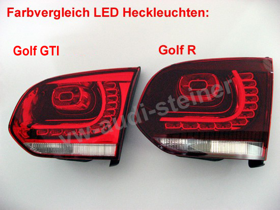 original vw led r ckleuchten golf 6 gti gtd. Black Bedroom Furniture Sets. Home Design Ideas